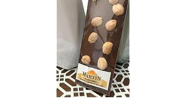 Chocolate Artesano Maestro Chocolatero - Pastelería Martín - Chocolate con Leche y Almendras Naturales Artesano elaborado con Auténtico Chocolate Belga ...