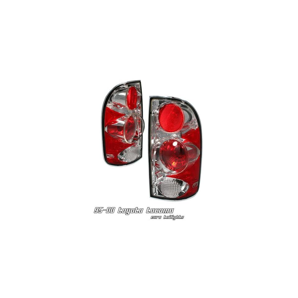 1995 1996 1997 1998 1999 2000 / 95 00 TOYOTA TACOMA PICKUP RED/CLEAR ALTEZZA TAIL LIGHTS TAIL LAMPS