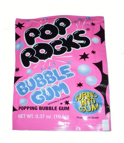 (Pop Rocks Bubble Gum Flavour (10.5g) x5 by Dandy Candy)