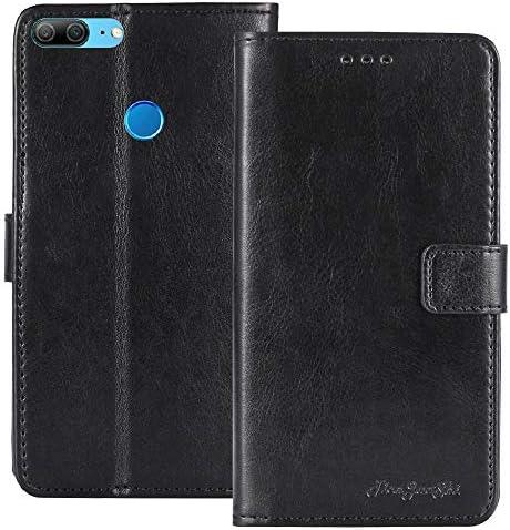 TienJueShi ブラック ビジネス TPU Silicone シリコーン レトロ 耐汚れ スタンド 財布 レザー 合皮 Case Cover Freetel REI 2 FTJ17A00 5.5 inch カード収納 カバー ケース ポーチ 手帳型