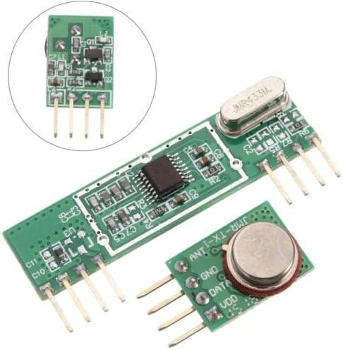 RF module 433Mhz superheterodyne receiver and transmitter kit For arduino F1