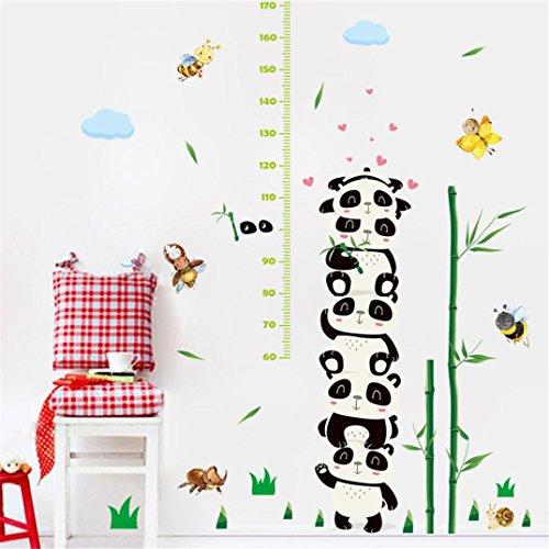 (Transer DIY Cartoon Panda Height Ruler Height Sticker Measure Chart Growth Chart DIY Wall Stickers (Multicolor))