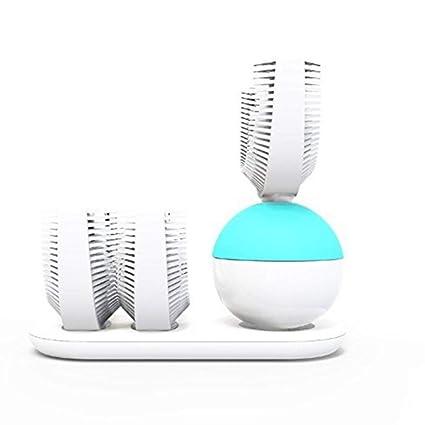 Cepillo De Dientes Eléctrico Automático Ultrasónico En Forma De U Blanqueamiento Dental Recargable Limpieza De 360