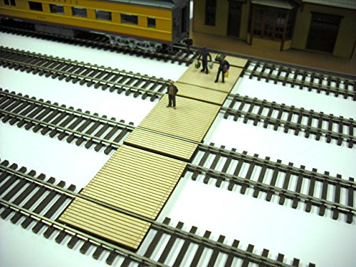 Timber Ho Scale (Train Time Laser HO Scale ** Laser Cut ** Custom Timber Baggage & Passenger Crossing)