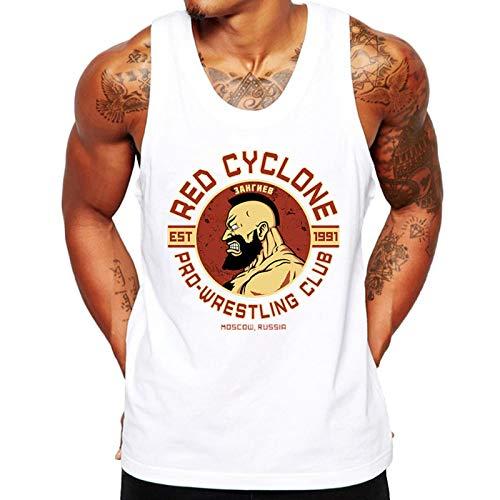 Camiseta Regata Criativa Urbana Fitness Red Cyclone Branco G