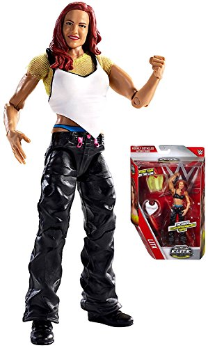 WWE Elite Collection First Time In Line Lita with Interchangeable Tops Action Figure 6""