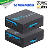 Bluesky TOSLINK Digital Optical Audio Splitter 1x3 One Input to Three Outputs (1X3 Audio splitter) This is not a troublesome mechanical splitter. This reliable 1X3splitter unit utilizes integrated circuits to duplicate the input signal seamlessly and...