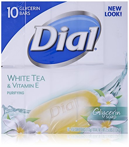 Dial White Tea & Vitamin E 10 Glycerin Bars.