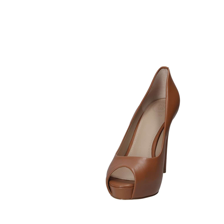 Guess Open Scarpe Donna Open Guess Toe MOD. Hadie TC 120 PL 25 Pelle Marrone Tan DS18GU51 Tan be6ae1