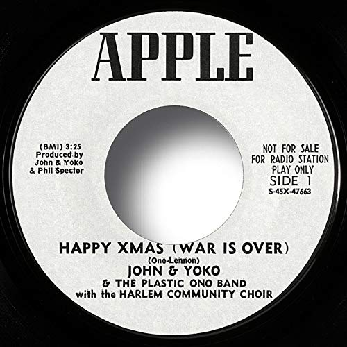 The Beatles Vinyl Records: John Lennon: HAPPY XMAS (War Is Over), aka: HAPPY CHRISTMAS, Rare 1971 USA PROMO DJ Promotional Original Collectibles Single, Near MINT!, Apple 1842, Includes Letter/Certificate of Authenticity (LOA/COA) by Beatles4me