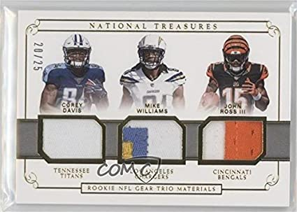 95ccb63e834 Amazon.com: Corey Davis; John Ross; Mike Williams #/25 (Football ...