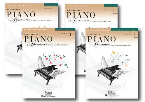 Accelerated Piano Adventures Level 1 - Four Book Learning Library - Includes Lesson, Theory, Performance, and Technique & Artistry Books -