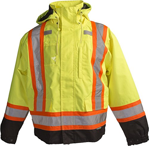 (Terra 11-6501-YL2XL High-Visibility 7-In-1 Reflective Safety Jacket, Yellow, XX-Large)