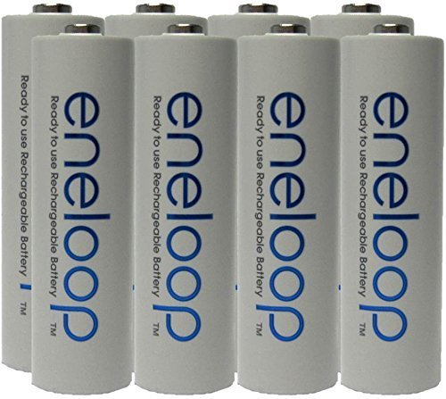 NEW Panasonic Eneloop 4th generation 8 Pack AA NiMH Pre-Charged Rechargeable Batteries -FREE BATTERY HOLDER- Rechargeable 2100 times replaces eneloop (3rd gen) AA 1800 Cycle, Ni-MH Pre-Charged Rechargeable Batteries ()