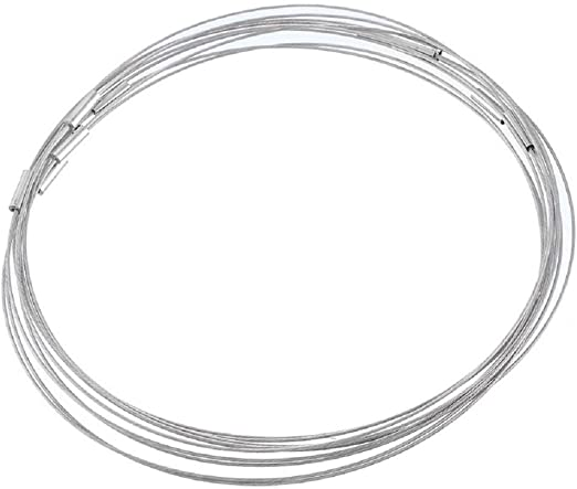 Souarts Silver Tone Color Steel Wire Choker Necklace Screw Clasps Pack of 10pcs