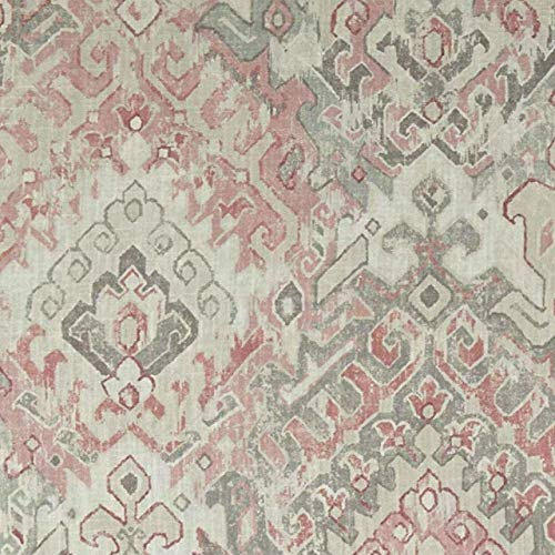 Rod Pocket Curtain Panels in Teglan Rosedust (Unlined, 108'')