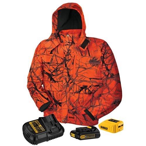 DEWALT DCHJ063C1-L 20V/12V MAX Blaze Camo Heated Jacket Kit, Large