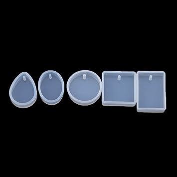 Yinew - Moldes de silicona para moldes de joyería, 5 piezas, molde de resina, herramienta de manualidades: Amazon.es: Hogar