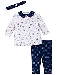 Baby Girls' 3 Piece Tunic and Legging Set With Headband