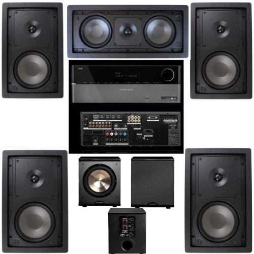 Klipsch R-2650-W In Wall 5.1 Home Theater System(R-2502-W)-FREE PL-200-Harman Kardon 1650 by Klipsch (Image #1)