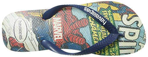 Havaianas Heren Top Marvel Spiderman Sandaal Beige / Marineblauw Beige / Marineblauw