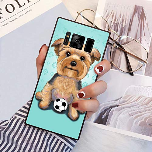 Square Chow Chow Dog Samsung Galaxy S8 Plus Case, JQLOVE All-Inclusive Full-Body Shockproof Protective Phone Cover, Case for Samsung Galaxy S8 Plus Chow Chow Dog ()