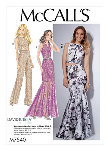 McCall's Sewing Pattern MP502 / M7540 - Misses' Princess Seam Top, Trumpet Dress and Skirt, and Tulip-Back Jumpsuit, Size: A5 ()