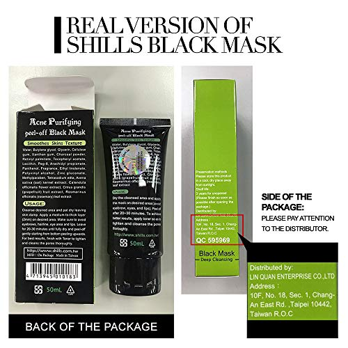 SHILLS Blackhead Remover, Pore Control, Skin Cleansing, Purifying Bamboo Charcoal, Peel Off Black Mask,1 Bottle(1.69 fl… 5