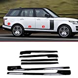 Base and long Wheelbase Replacement Parts For Landrover Range Rover Vogue LR405 14-17 ABS Gloss Black Side Decoration Strip Trim