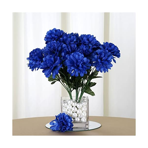 Efavormart 84 Artificial Chrysanthemum Mums Balls for DIY Wedding Bouquet Centerpieces Party Home Decoration Wholesale – Royal Blue