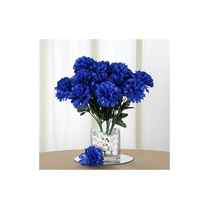 silk flower arrangements efavormart 84 artificial chrysanthemum mums balls for diy wedding bouquet centerpieces party home decoration wholesale - royal blue