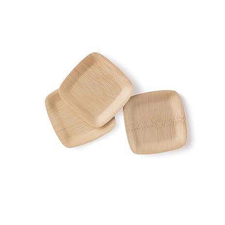 BAMBU \u2013 5\u201d Bamboo Square Tasting Plates (Pack of 25) \u2013 Compostable  sc 1 st  Amazon.com & Amazon.com: BAMBU \u2013 5\u201d Bamboo Square Tasting Plates (Pack of 25 ...