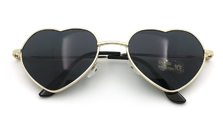 Flowertree Women's S014 Heart Aviator 55mm Sunglasses