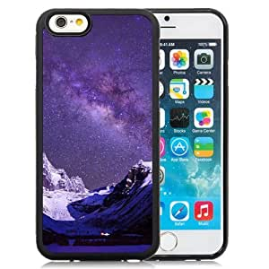 NEW Unique Custom Designed iPhone 6 4.7 Inch TPU Phone Case With Milky Way Over Snow Mountains_Black Phone Case