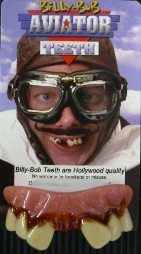 Graftobian 32272 Billy-Bob Teeth - Aviator by fancy dress warehouse (Teeth Aviator Bob Billy)