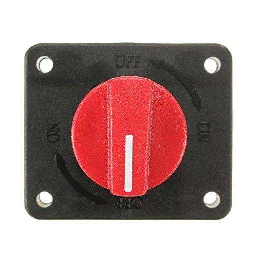 Tipo J 1pz TOOGOO Interruptor de bateria Aislador rotatorio Interruptor de desconexion de Potencia Interruptor de Corte para Coche Barco Marino camioneta Camion RV ATV Caravana