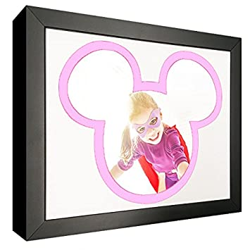 Amazon.com: Mouse Silhouette Picture Frame with Pink and White Mat ...