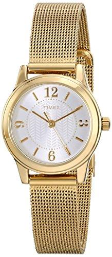 Timex Women's Dress Watch | Gold-Tone Bracelet & Case | Modern Mini Watch T2P458