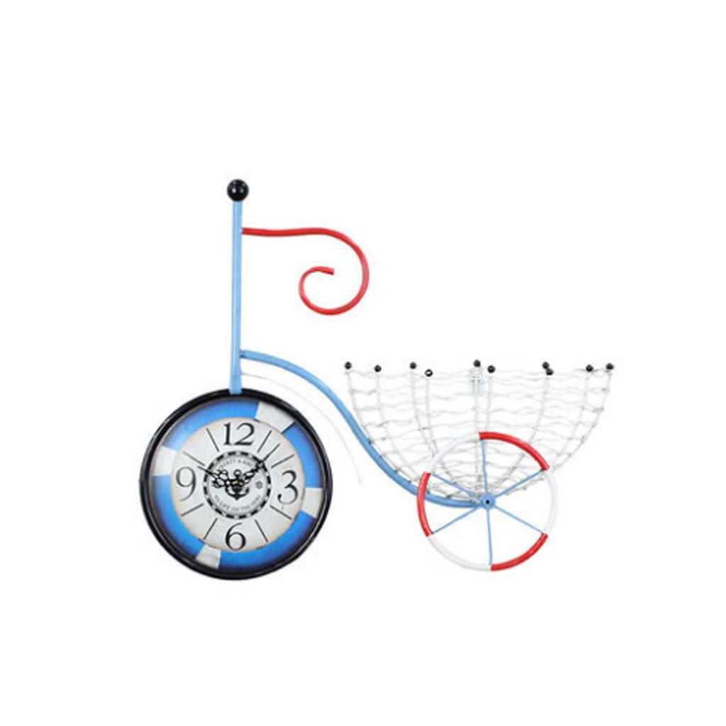 コンチネンタル自転車ウォールクロック、アイアンアート自転車壁掛け装飾 (サイズ さいず : Type A) B07FPFL65QType A