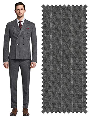 YEABARRON Mens Custom Made Tailored Fit 3 Piece Monogrammed Stretch Suit Blazer Jacket and Pants