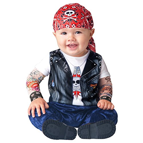 Born To Be Wild Biker Baby Costume (Born To Be Wild Baby Infant Costume - Infant Small)