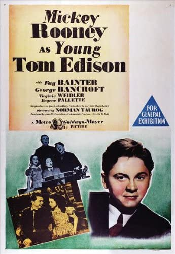 Amazon.com: Young Tom Edison POSTER Movie (27 x 40 Inches - 69cm x 102cm) ( 1940): Posters & Prints