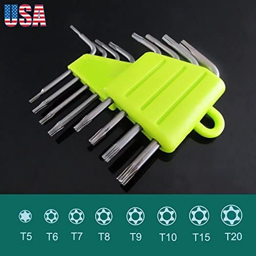 Hex key long arm L wrench hand tool set T2.5 T3 T4 T5 T6 T8 T10