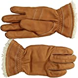 Hestra Leather Gloves: Mens and Womens Primaloft Thin Winter Gloves, Cork, 8