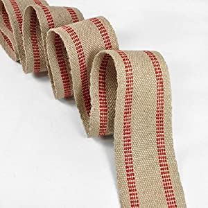 11 Pound Red/Natural Jute Webbing 10 Yard Roll