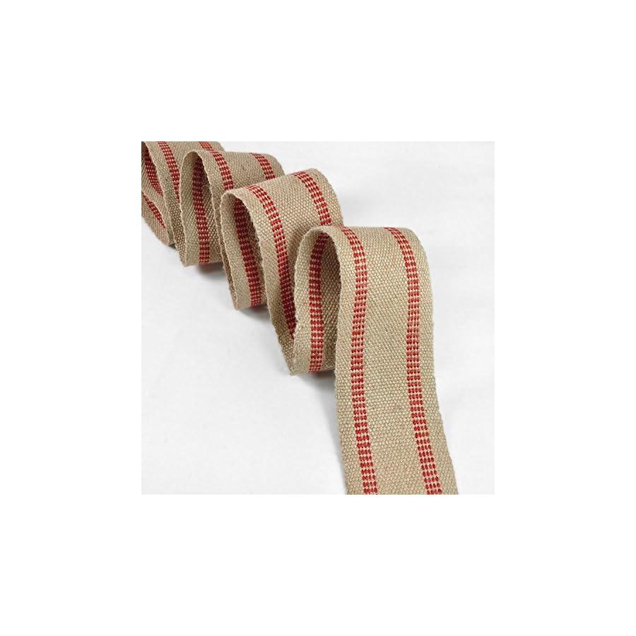 11 Pound Red/Natural Jute Webbing 10 Yard Roll