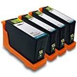 Printronic Compatible Lexmark 150xl (1 Black 1 Cyan 1 Magenta 1 Yellow) for All-In-One Pro715 Pro915 Series S S315 S415 S515