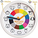 Preschool Collection PRESCHOOL CLOCK: Time Teaching Silent Metal Frame Wall Clock 12'' for Kids! The Only Educational Clock aToddler/Preschooler understands, Perfect for Bedroom & Classroom