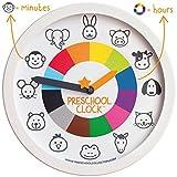 Preschool Collection PRESCHOOL CLOCK Time Teaching Silent Metal Frame Wall Clock 12'' for Kids! The Only Educational Clock a Toddler/Preschooler Understands, Perfect for Bedroom & Classroom