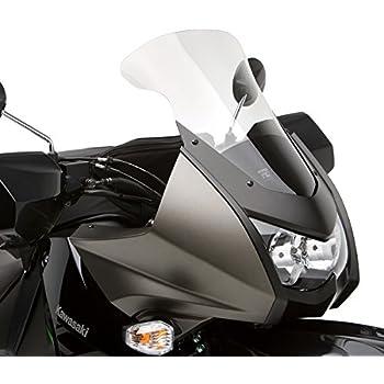 Kawasaki KLR 650 Adjustable Windshield System by Madstad Engineering 18, Light Gray